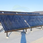 EarthNet Energy 10 Collector Medical Center Solar Hot Water System