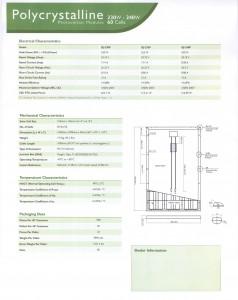 230 Watt Poly Module Spec