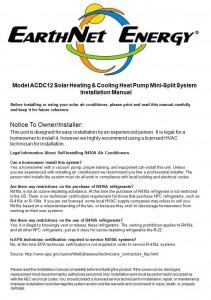 EarthNet Energy Installation Manual