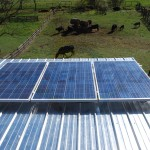 3 Metal Roof Mounted Solar PV Panels