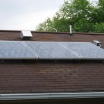 3 Asphalt Shingle Mounted Solar PV Panels